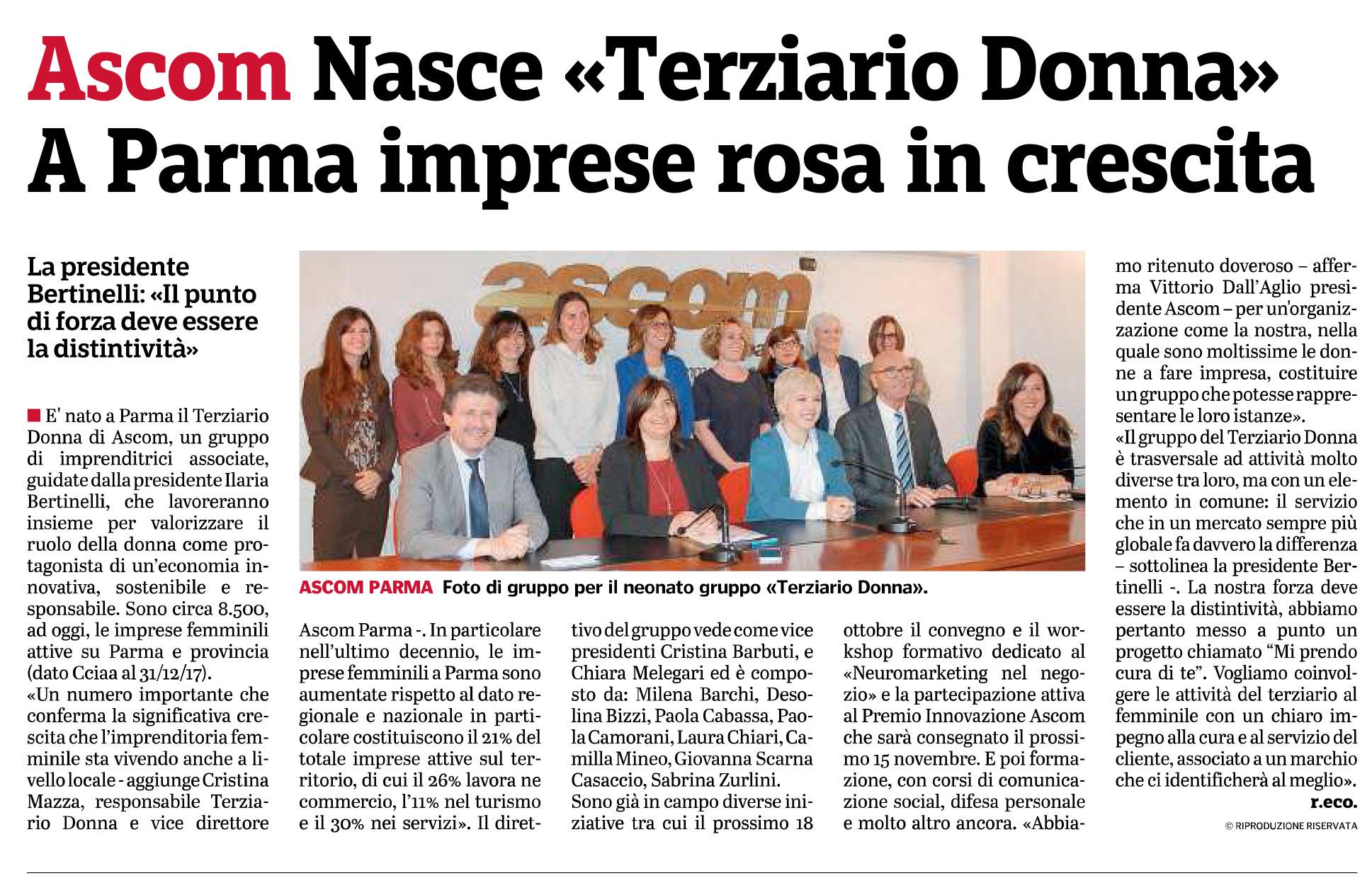 Gazzetta_11-10-2018_pag05_ascom_nasce_terziario_donna_e_start_cu